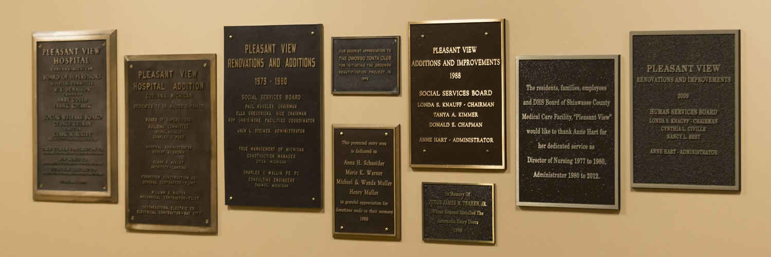 Memorial Contributions Pleasant View Medical Care Facility